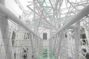Birmingham's Zellig Sculpture Features Intricate Steel Tubes