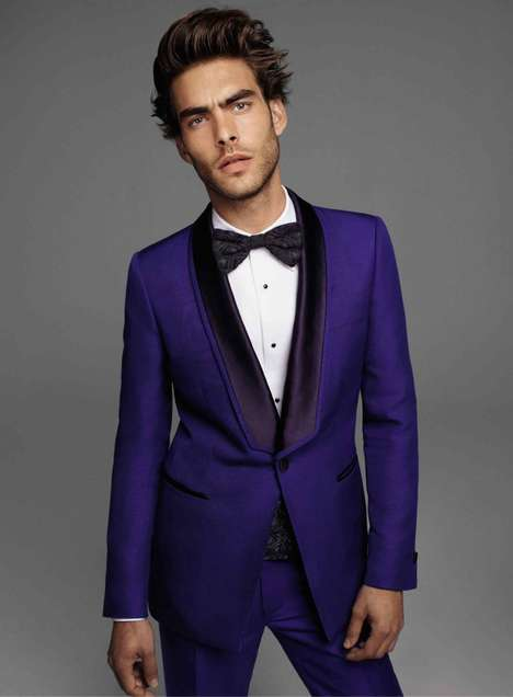 Dashing Eggplant-Toned Tuxedos - The Roberto Cavalli Spring/Summer Menswear Campaign is Bold