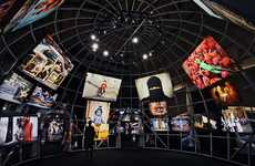 Spherical Photographic Displays - The Steve McCurry MACRO Museum Exhibition is Mesmerizing