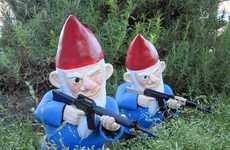 Gun-Toting Lawn Soldiers