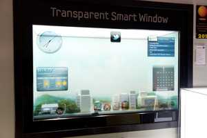 Samsung 'Smart Window' is Touchable and Transparent at CES 2012