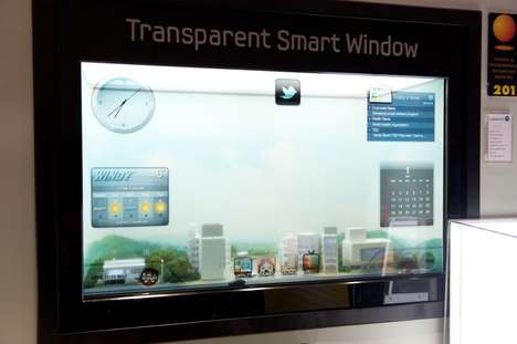 Web-Surfing Windows - Samsung 'Smart Window' is Touchable and Transparent at CES 2012