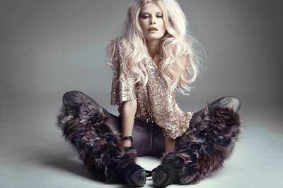 Glamorous Furry Legwarmers - Karolina Bien Poses for Maciej Bernas in Spicy Photo Shoot