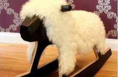 Fleecy Swaying Playthings - Bright Spark Rocking Sheep is a Whimsically Woolly Stallion Substitute