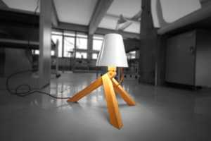 Spiff Lamp Takes its Three-Legged Lumber Form from Delightful Toy Design