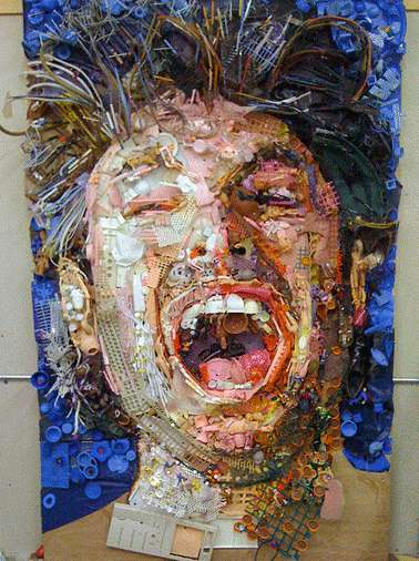 Phenomenal Junk Portraits - Tom Deininger's Screaming Creations Make Use of Discarded Material