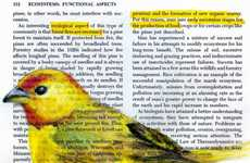 Superimposed Avian Illustrations - Paula Swisher Beautifully Draws Birds on Old Science Books