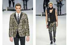 Bedazzling Buttoned Menswear - The Frankie Morello FW12 Collection is All Shine and Shimmer