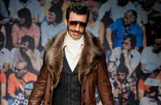Creepy Moustached Catwalks - The Trussardi Fall/Winter 2012 Collection is '70s-Inspired