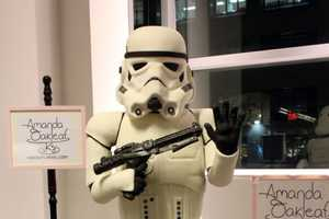 The Stormtrooper Cake by Amanda Oakleaf Cakes is to Scale