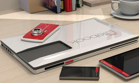 Mobile Device Laptop Docks - The Lifebook Concept Sources Processing Power from Mobile Gadgets