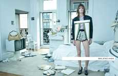 Disheveled Couture Ads - The Balenciaga Spring 2012 Campaign is in Structured Disarray