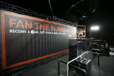 Auto-Burning Contests - MINI Belux 'Fan the Flame' Advertising Campaign