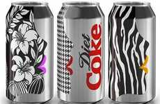 Posh Pop Packaging - The Diet Coke Get Glam Campaign is in Collaboration With Benefit Cosmetics