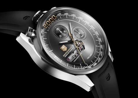 Unreadable Luxury Watches - Tag Heuer Mikrogirder Measures Time to the 1/2,000th of a Second
