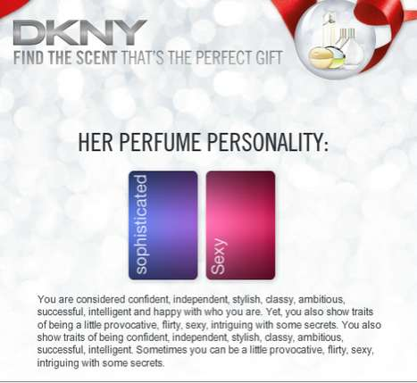 Custom Fragrance Tools - DKNY Scent Finder Helps You Find the Perfect Perfume