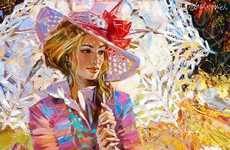 Neo-Impressionist Fashion Illustrations