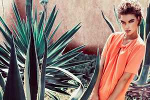 Arizona Muse Stars in Massimo Dutti Spring Sumer 2012 Campaign