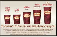 Upsized Coffee Branding - Tim Hortons Extra Large Cup Changes the Chain's Cup Size Names