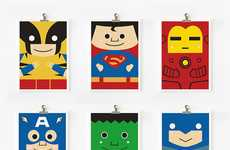 Flattened Pop Culture Figures - Adorable Prints by Loopz are Full of Superheroes and Princesses