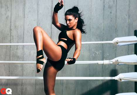 GQ January 2012 Gina Carano