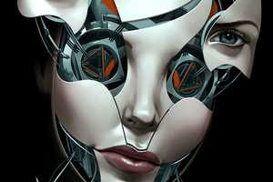 Billy Nunez Illustrates Stunning Androids with Detachable Visages