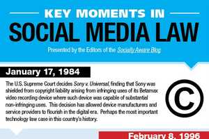 The Key Moments in Social Media Law Infographic is a History Lesson