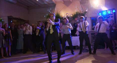 groom dances to baby