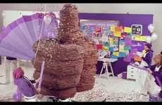 Enormous Edible Acknowledgments  - Cadbury Makes Giant Chocolate Thumbs up for 1 Million Followers