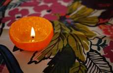 The DIY Satsuma Candle is an Eco-Friendly Alternative to Traditional Tapers