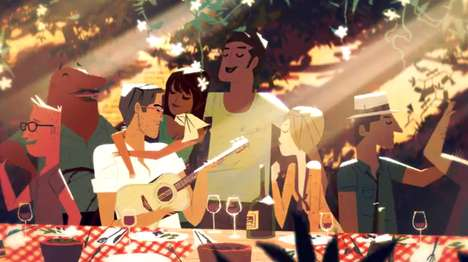 Radiant Animated Eyewear Ads - Persol Sunglasses' 'A Year of Sun With Mr. Persol'