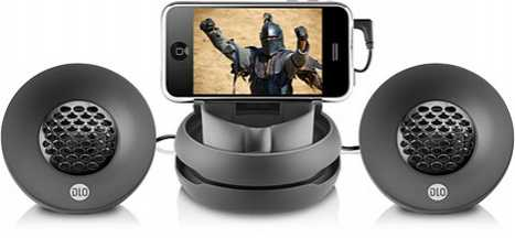 Speakers Fold Up into an Egg - DLO Portable iPhone Speakers
