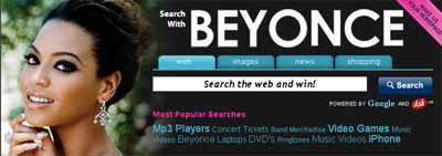 More Celebrity Search Engines-Beyonce, Mandy Moore, Willie Nelson And Even Randy Moss!