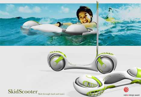 Amphibious Scooter - Skidscooter
