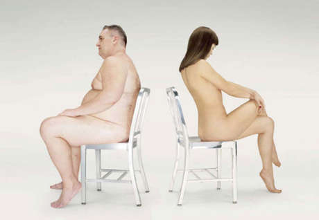 Nudevertising to Sell Chairs