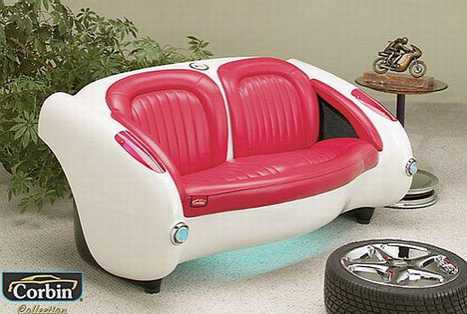 RetroChic Automobile Furniture - 1957 Corvette Style Couch