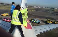 Extreme Climate Change Protest - Greenpeace Jumps On Airplane