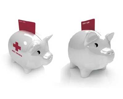 High-Tech Savings & Donation - Credit Card Pig Bank
