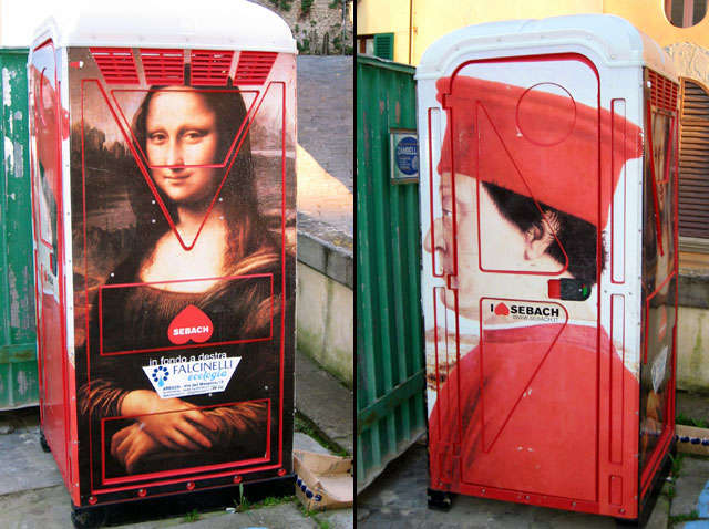 Milan's Portable Toilet Art