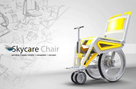 Airplane-Adjusted Wheelchairs - Skycare Chair is Optimized for Aircraft Maneuvering and Independence