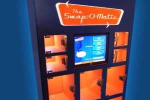 The Swap-O-Matic Trades Products for Recyclable Materials