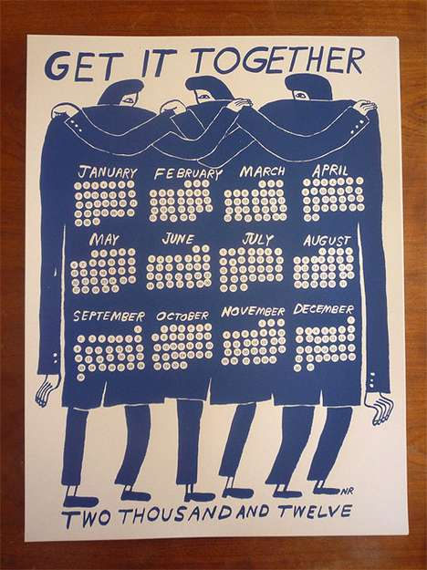 Aggressive Motivational Calendars - Nathaniel Russell's 'Get It Together' Offers Yearly Stimulus