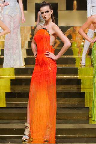 Fierce Neon Frocks - The Versace Haute Couture Spring 2012 Collection is Spectacular