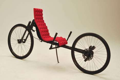 Cushy Recumbent Bikes - This Design by Mosen Saleh Has Soft Seating