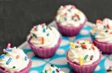 Mini Intoxicating Cupcakes - These Birthday Cake Jello Shots are Full of Sugary-Sweet Fun