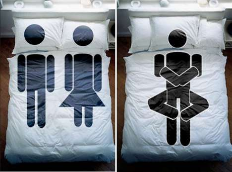 Suggestive Stick-Figure Sheets - The Vadim Cherniy Bedclothes Collection Offers Clever Coverings