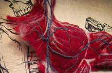 Introspective Body Art - Felted Anatomy by Dan Beckemeyer Shows Anatomy