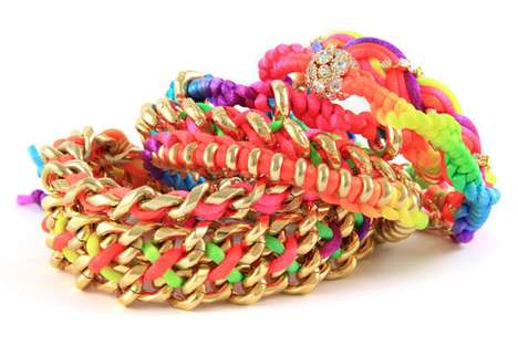 Stackable Neon Accessories - The Ettika Friendship Bracelets are Great for Grown-Ups