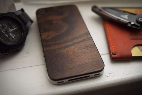 wooden iPhone back cover