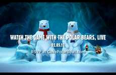 Polar Bear Football - The Coke Bears Will be a Part of the Super Bowl Action